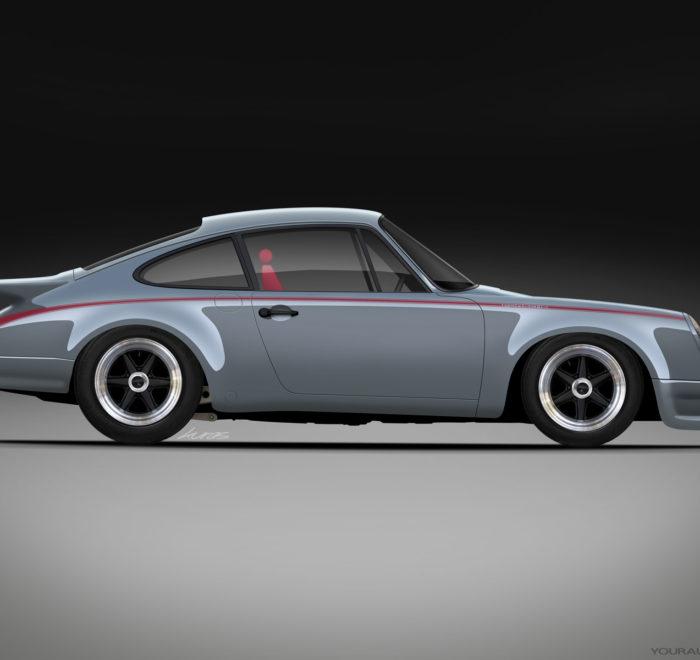 C9 Porsche 911 RS Turbo Grey