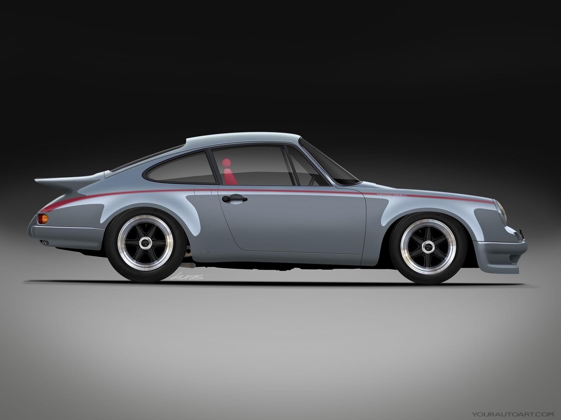 Classic 9 Porsche 911 RS Turbo Grey